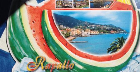 Cartolina da Rapallo a forma di anguria Deltiology - foto di Sabrina Comoretto